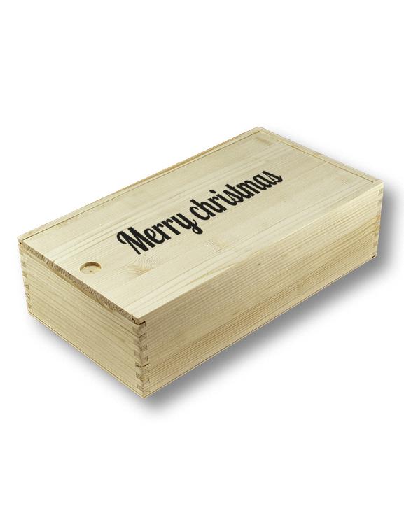 cassetta in legno di auguri