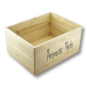 cassetta in legno per piante