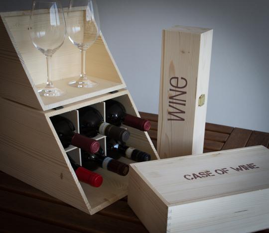 casette in legno per vino