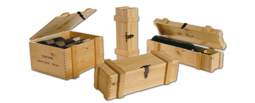 cassette in legno per vino rinforzate