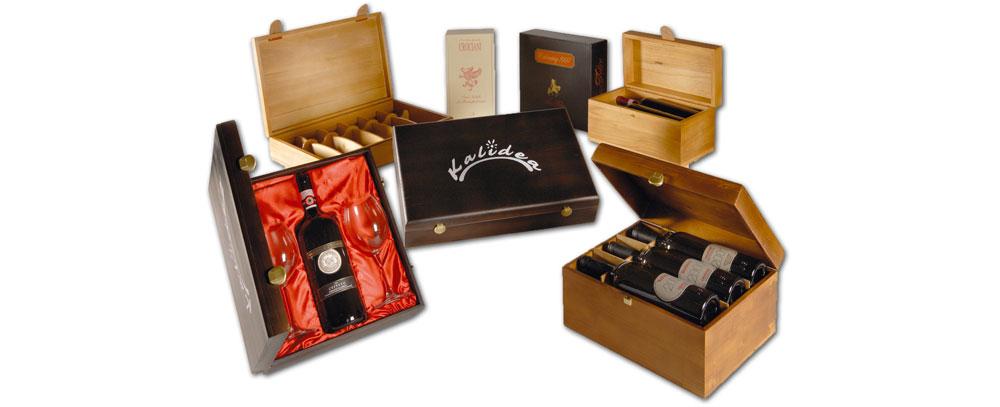 cassette in legno per vino verniciate